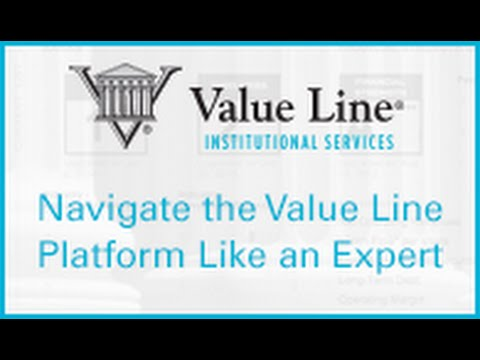 Library Webinar: Navigate the Value Line Platform like an Expert