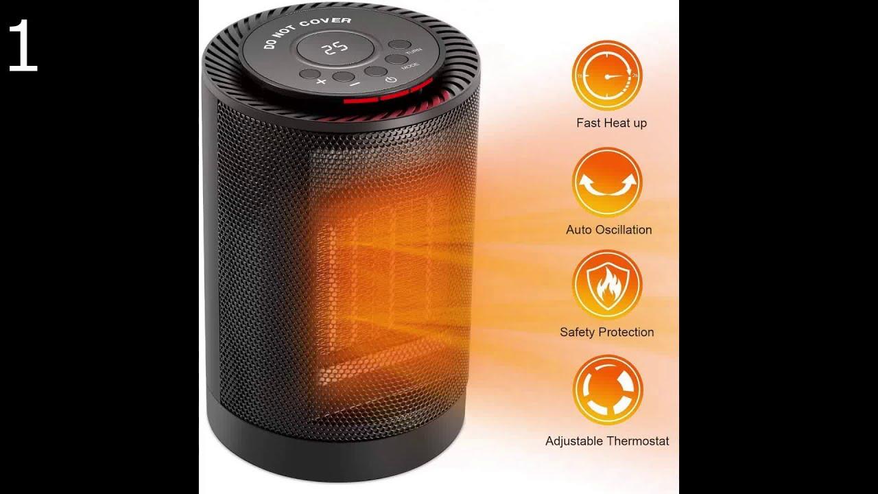 Oszillierender Camping Elektroheizer Keramik 1500W mit Thermostat /& Ventilator