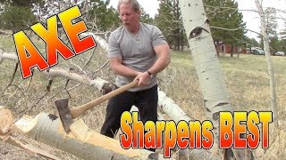 Razor Sharp Axe and Sharpest Knife by Sharpens Best
