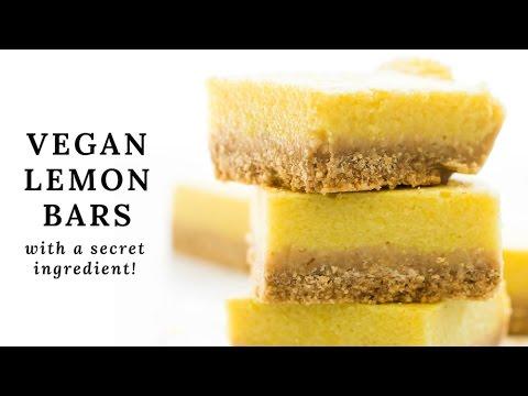 Secret Ingredient Vegan Lemon Bars