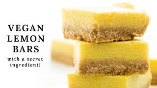 Secret Ingredient Vegan Lemon Bars