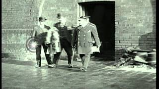 King George V visits American officers club in England during World War I. HD Stock Footage