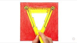 Shazam! How to draw Shazam Logo | Drawing and Coloring
