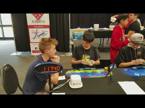 Battle of Waterloo 2017 15.43 Official Rubik's Cube Solve (part of a 15.01 average)