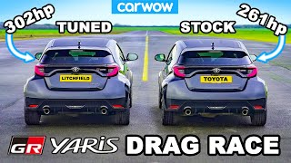 Toyota GR Yaris vs Litchfield GR Yaris: DRAG RACE *results of a £640 tune*