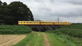 2017年8月28日 三岐鉄道北勢線 めがね橋の上を行く電車