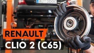 Hvordan og hvornår skifte Hjullejesæt bag venstre højre RENAULT CLIO II (BB0/1/2_, CB0/1/2_): videovejledning