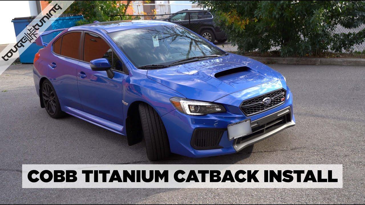cobb titanium exhaust review and install 2019 subaru sti