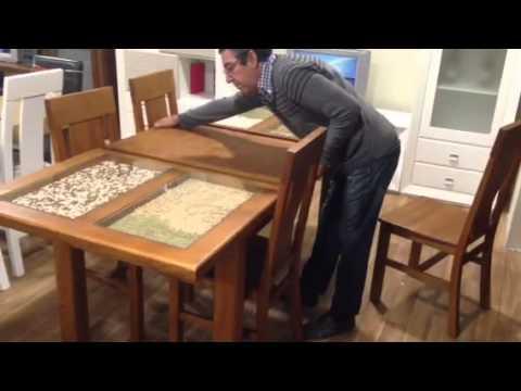 Comedor en oferta mesa de madera extensible y 4 sillas for Comedor 8 sillas madera