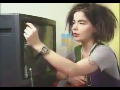 Unintentional ASMR 📺 Björk takes her TV apart (Icelandic accent)