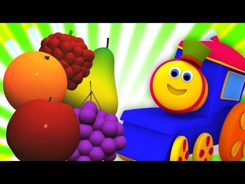 Bob, chuyến tàu | học trái cây với bob | Fruits for Kids | Bob Fruit Train