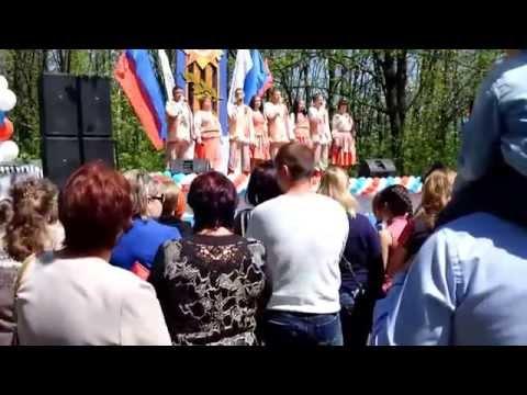 """9 мая 2015 в городе Семилуки - концерт возле памятника """"3 самолёта"""""""