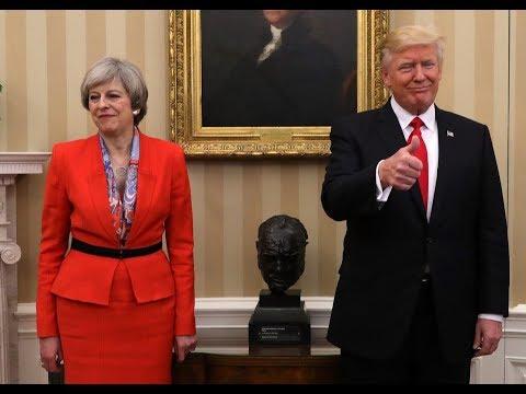 President Donald Trump Sticks it to UK Prime Minister Theresa May regarding decision on Iran Deal