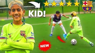 8 YEAR OLD KID MESSI IS OVERPOWERED.. AMAZING Skills PRO Football Competition
