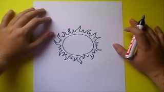 Como dibujar un sol paso a paso | How to draw a sun