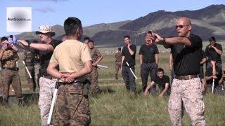 Mongolian Police Being Hit With Pepper Spray - US Marines/Mongolian Joint Exercise. 1/2