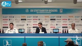 33. Spieltag, Stuttgarter Kickers vs SV 07 Elversberg - Pressekonferenz