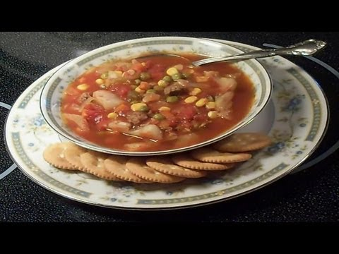Crock Pot Beef And Vegetable Soup - E149