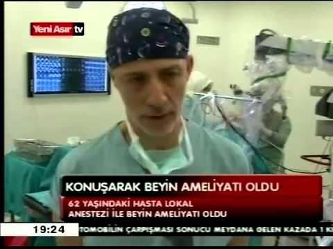 Prof. Dr. Sertaç İşlekel Lokal anestezi ile uyanık beyin tümörü yeni asır TV