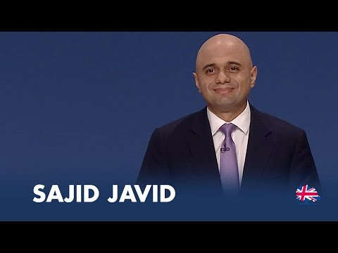 Sajid Javid: Speech to Conservative Party Conference 2014