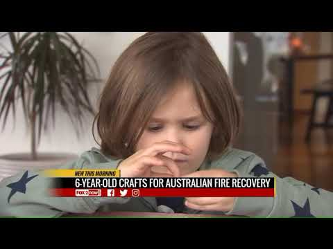 Karla Cantrell - 6 year old raises $ for wildlife in Australia