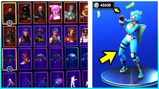 I show ALL my SKINS, EMOTES & SPITZHACKEN in FORTNITE! - Fortnite Battle Royale
