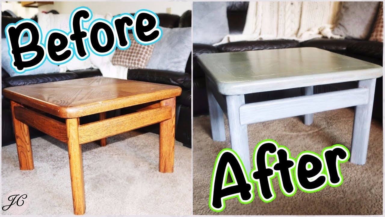 HOW WE REFINISHED OUR COFFEE TABLE [ DIY ] Grey Stain ...