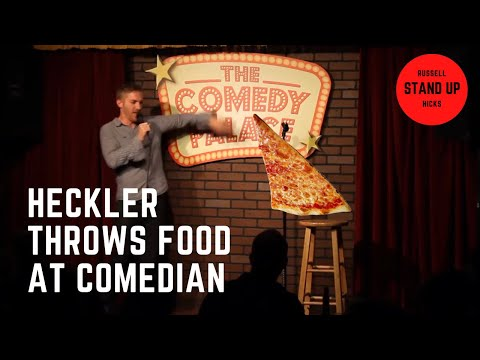 Heckler throws food at comedian