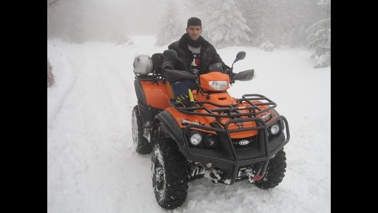quad atv tgb blade 550 on the snow youtube. Black Bedroom Furniture Sets. Home Design Ideas