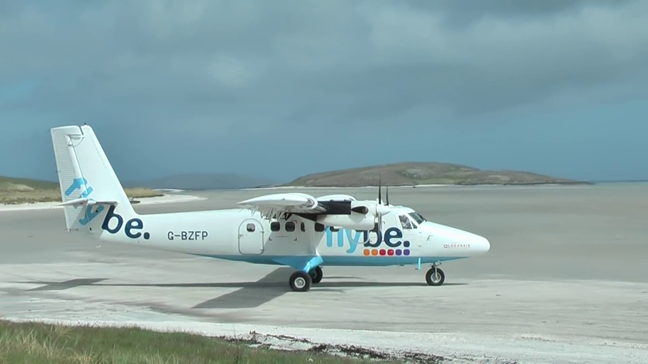 Beautiful Isle of Barra airport, Scotland, one of the world's only tidal  beach airports - YouTube