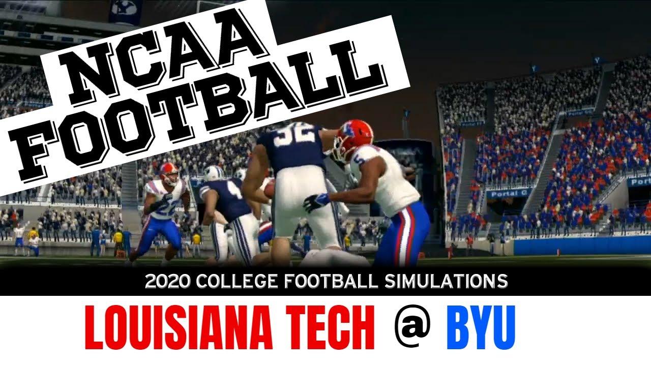 Louisiana Tech At Byu 2020 Ncaa Football Simulation Youtube