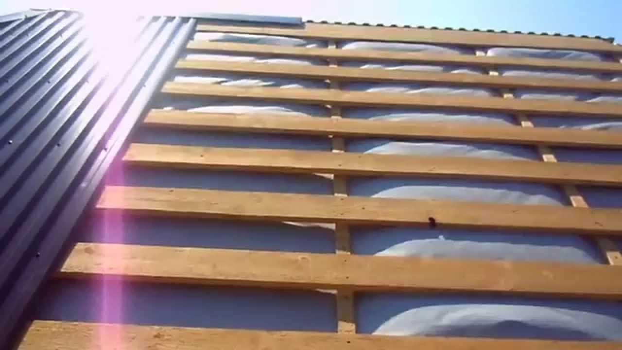Сделать крышу из профлиста своими руками
