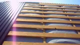 видео Гидроизоляция на крышу дома под профнастил: выбор материала и схема монтажа