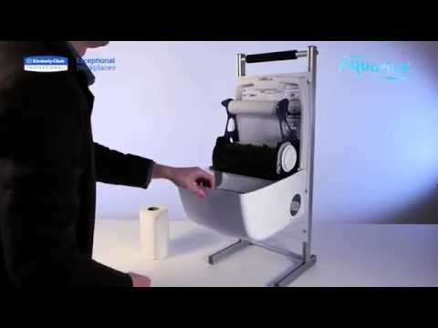 KIMBERLY-CLARK PROFESSIONAL* AQUARIUS SLIMROLL Rolled Hand Towel Dispenser code 69530 Demo Video
