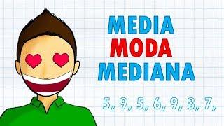 MEDIA, MODA Y MEDIANA Super facil | Medidas de tendencia central
