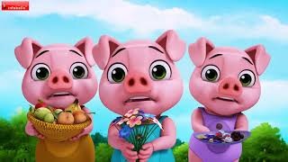 Three Little Pigs and Mr. Wolf's Big Sister Kahaniya | Hindi Stories for Children | Infobells
