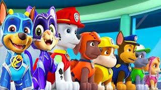 PAW Patrol Mighty Pups Save Adventure Bay - Tracker, Chase Super Heroic Rescue Mission Nick Jr HD
