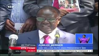 All Jubilee coalition affiliate parties reach deal to fold up and form a single party