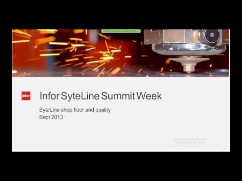 Infor SyteLine ERP Module Demos:  Shop Floor and Quality - W