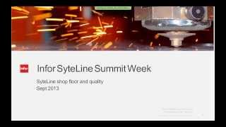 Infor SyteLine ERP Module Demos:  Shop Floor and Quality - Warehouse Mobility and Time Track