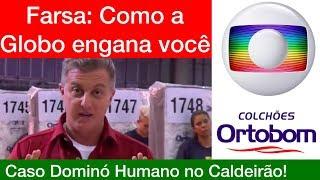 Globo e Ortobom enganam a todos com Recorde de Dominó Humano!