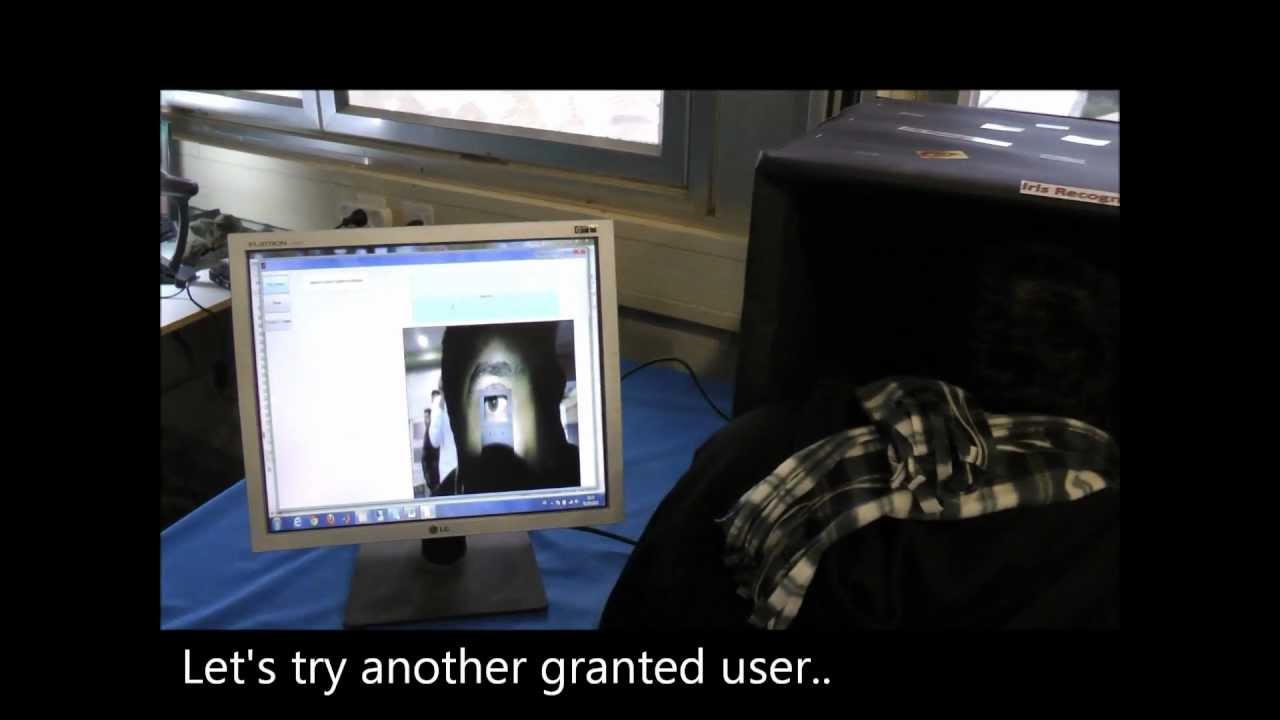 Iris Recognition with standard webcam by Asaf Aharon