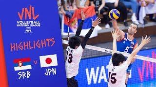 SERBIA vs. JAPAN -  Highlights Men | Week 1 | Volleyball Nations League 2019
