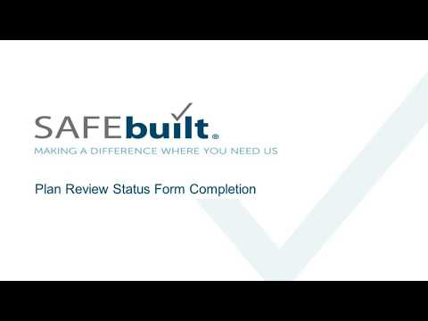 Plan Review Status Form