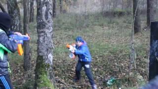 Нёрф БИТВА на Русском;наёмник 2:NERF :  2