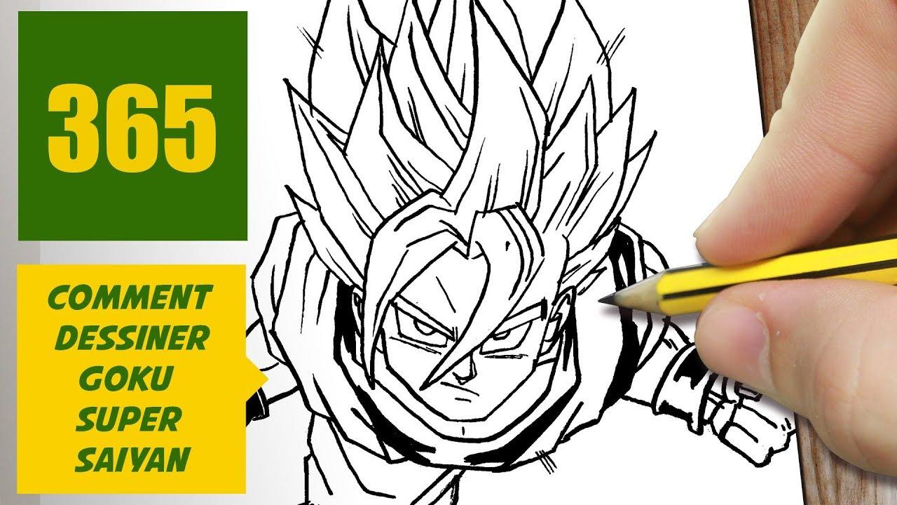 Comment dessiner goku super saiyan comment dessiner dragon ball youtube - Comment dessiner goku ...
