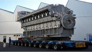 Increible Fabricacion Motor DIESEL Mas Grande del Mundo, Instalacion Mecanica Motor Gigante