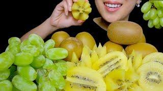 HEALTHY EATING ASMR: FRЏIT PLATTER ASMR (GREEN GRAPES AND GOLDEN KIWI FRUIT   TracyN ASMR