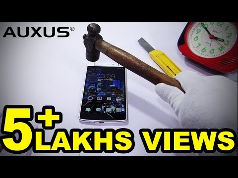 Auxus ONE : Crazy Gorilla Glass 3 Test - Official First Hands On HD Video - iberry