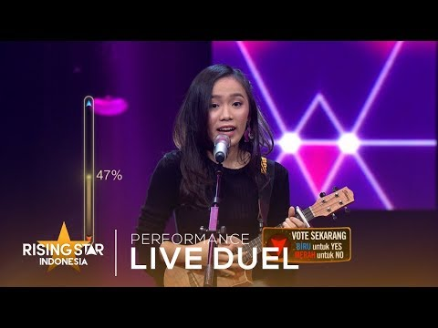 Angeline Victoria 'Thunder x Young Dumb & Broke '   Live Duel 2   Rising Star Indonesia 2019